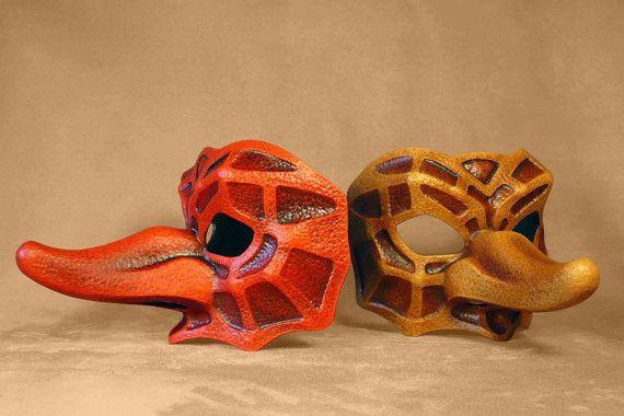 Commedia Dell Arte Captain Fracasso Mask
