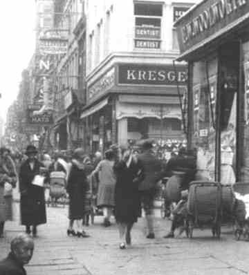 Kresge's and Woolworth. I remember both stores in downtown Columbus, OH, you could always smell the fresh nuts roasting. I miss those days!