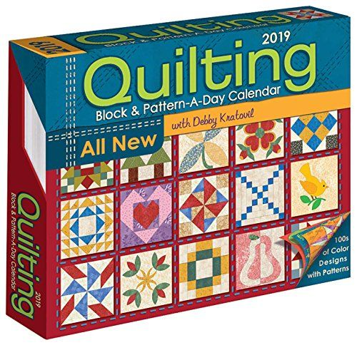 Quilting Block & Pattern-a-Day 2019 Calendar - Quilters will be thrilled with the 300-plus patterns included in the Quilting Block & Pattern-A-Day 2019 Calendar. With patterns for 41 quilts and 272 quilt blocks, this calendar's extraordinary collection includes:Holiday and seasonal designsVintage, traditional, and modern blocks...