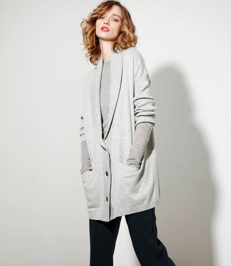 G'Ma Cardi in Grey Marl - Cashmere/Merinowww.nineteen46.co.nz