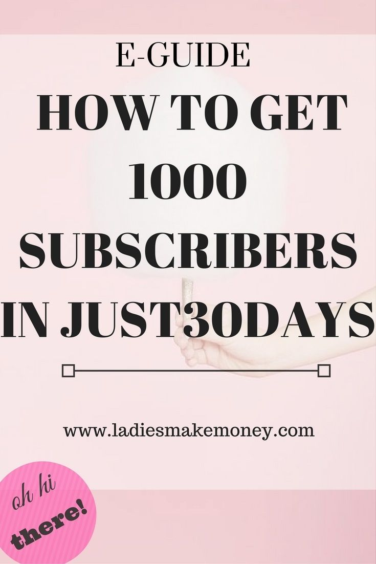 How to get your next 1000 subscribers in just 30 days. Get your guide today.