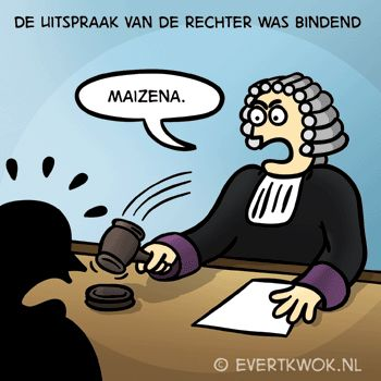 345 Rechter - Evert Kwok Cartoons - droge humor, woordgrappen & bananen