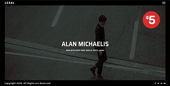 Lexal - Personal / Portfolio / Resume Template   Best