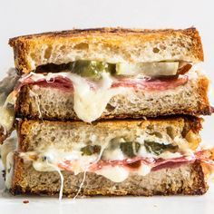 Salami & Dill Pickle Grilled Cheese : bonappétit