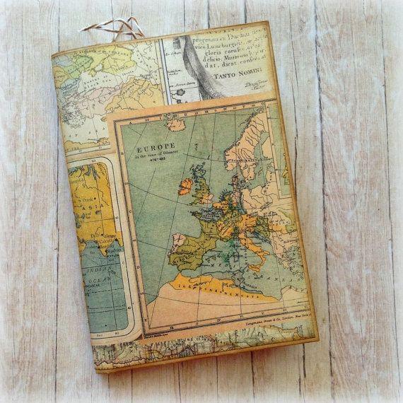 Handmade Travel Journal. Envelope cover. by AStoryFullOfJournals
