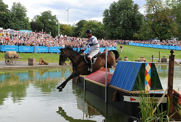 Olympic Games equestrian eventing narrowboat jump