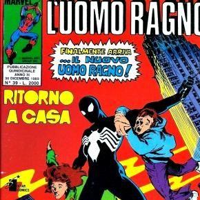 La copertina della versione italiana di Spiderman: Homecoming