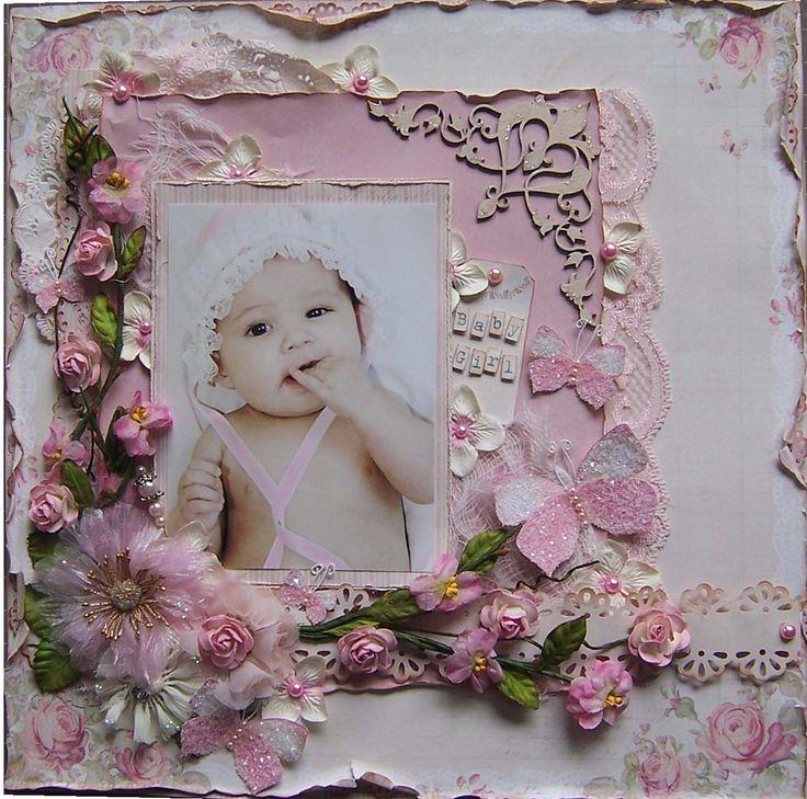 Baby Girl *PION DESIGNS* - Scrapbook.com (by Angelica) Wendy Schultz onto Scrapbook Art.