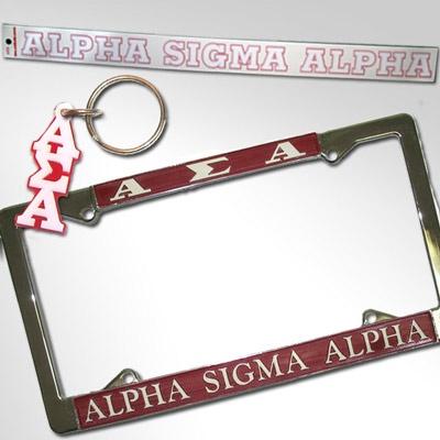 Alpha Sigma Alpha Car Package #Greek #Sorority #Accessories #ASA #AlphaSigmaAlpha #Car #Package