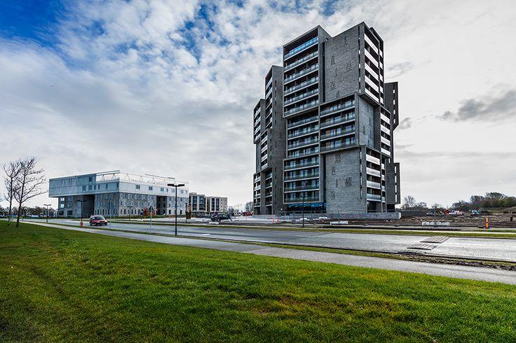 Campus Kollegiet Odense - glasværn med digital keramisk print