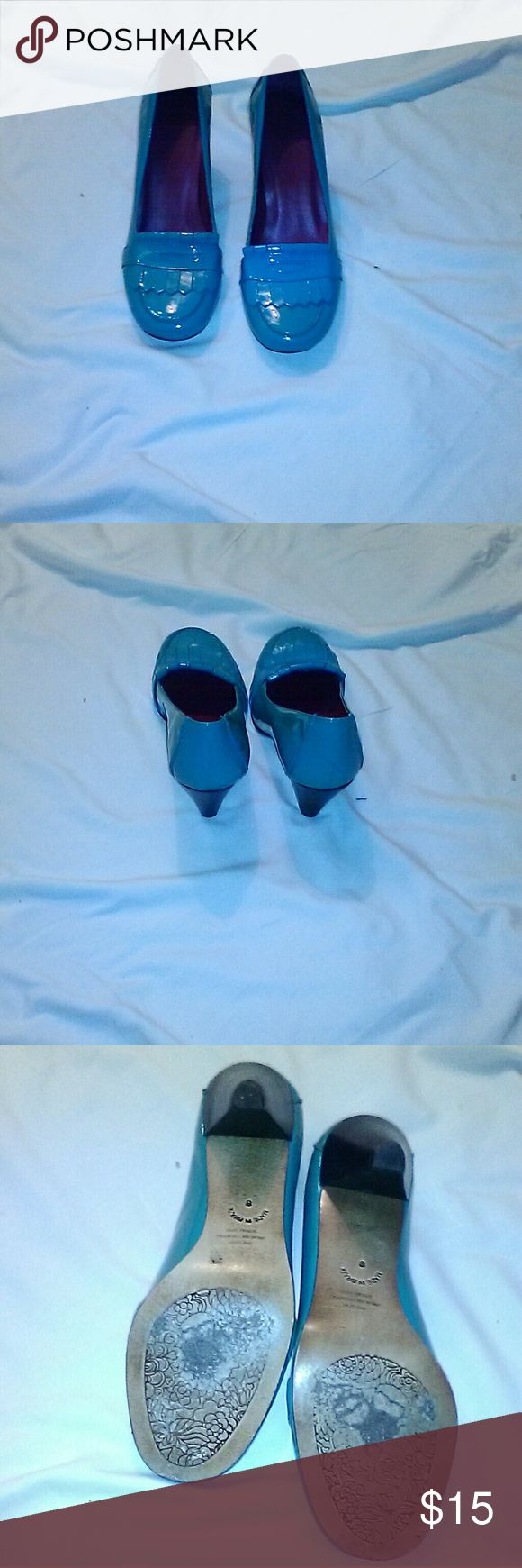 GAP BLUE LOAFERS WITH 2 inch heels Blue Gap Loafer with a 2 inch in good natural wear shown in the pictures GAP Shoes Flats & Loafers