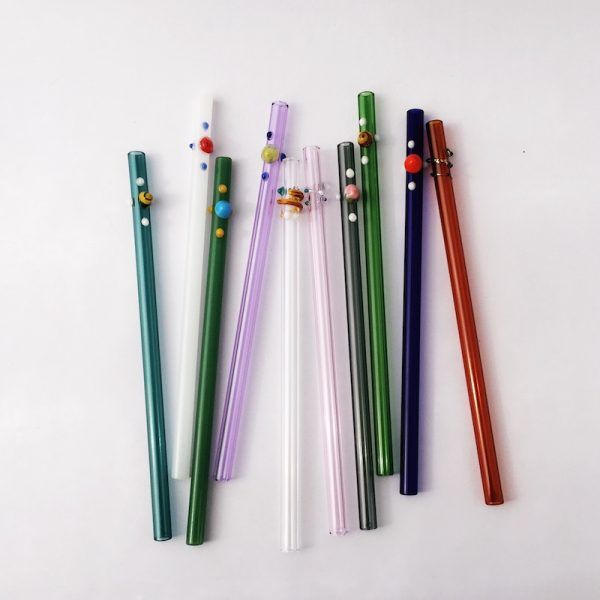 Replace plastic straws with reusable alternatives like these glass straws from Strawesome. #SheddTheStraw with us!