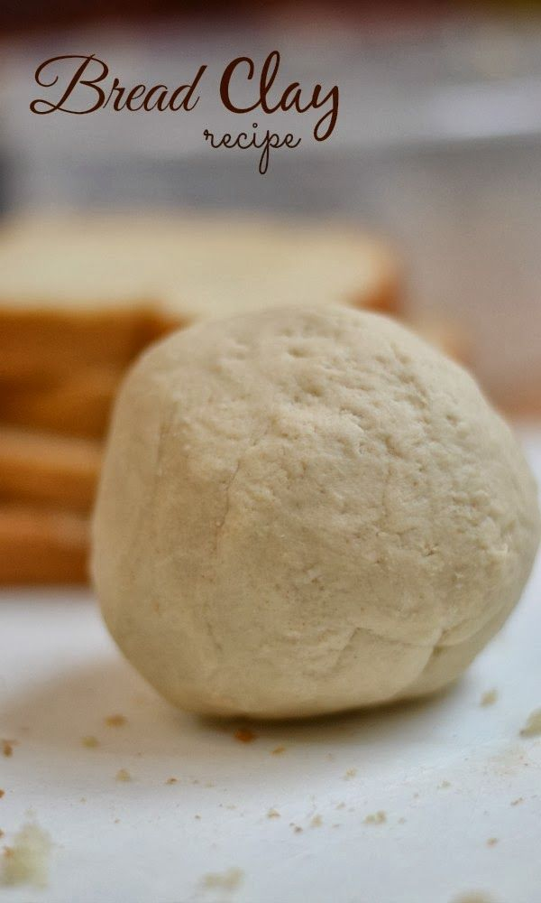 Making bread clay is such a fun activity for kids.  They get to break up bread, mix gooey ingredients, and when they are done they have a super fun play clay to create and explore with.