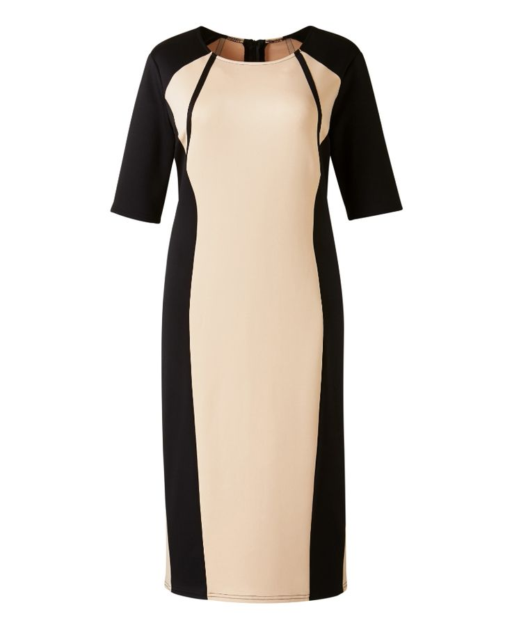 """AX Paris"" AX Paris Colour Block Bodycon Midi Dress - Length from 43in at Simply Be"