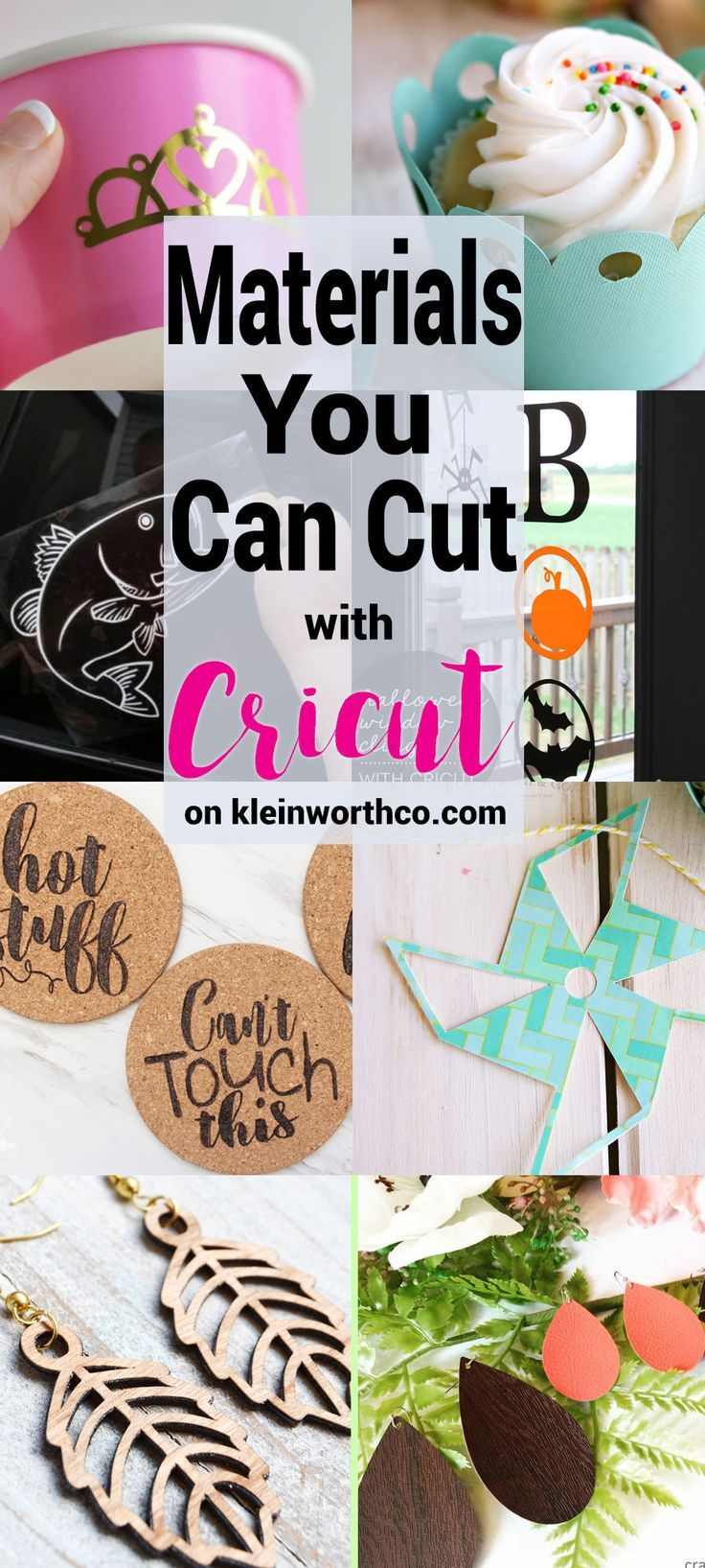 Wondering what Materials You Can Cut with Cricut? Check out all these super awesome projects made with so many different materials & cut with Cricut.