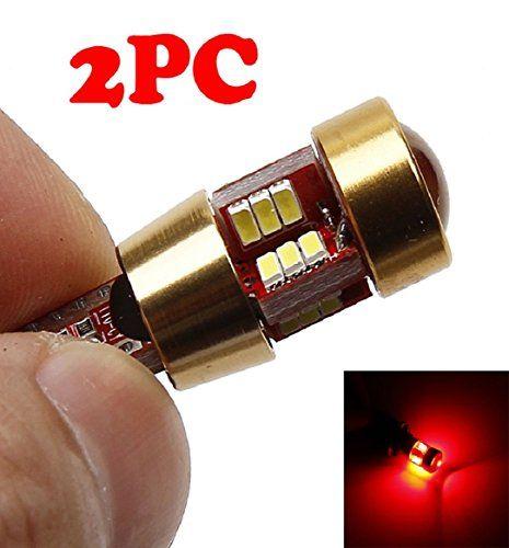 Ularma 2 x lumière LED T10 W5W SMD 3014 lentille paupière ampoule lampe Auto Lampe Ampoule LED (rouge)