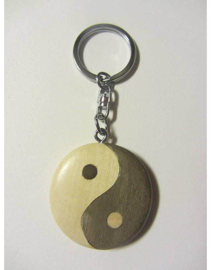 Sleutelhanger yin yang (hout)