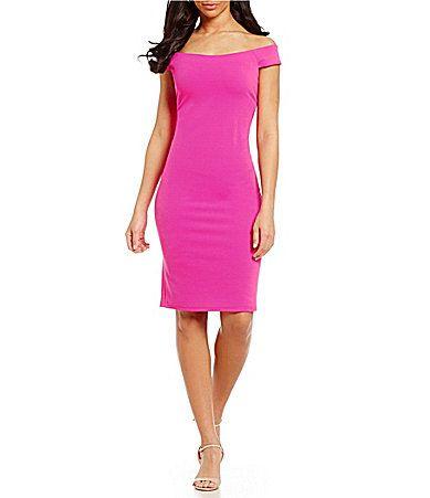 Eliza J OffTheShoulder Solid Sheath Dress #Dillards