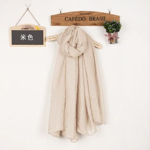 Women's Solid Color High Quality Linen Cotton Scarves For Winter/Autumn - 20 Colour beige  Scarves Women winter autumn fashion style products gift outfit accessories fall simple beautiful chic shops ideas  shop store sell buy online 2017 websites