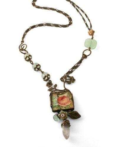 Vintage Rose necklace from www.vintaj.com.