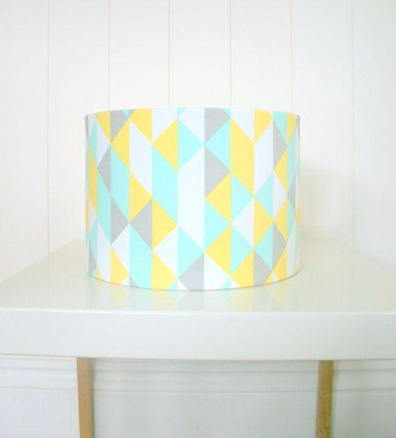 Geometric Fabric Lampshade Drum