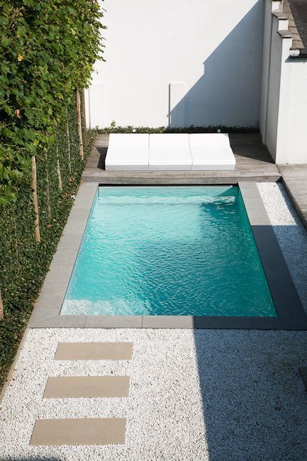 minimalist styled plunge outdoor swimming pool