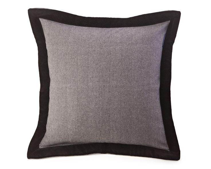 Lexington Kissenhülle Contrast Edge Sham 65 x 65 cm grey