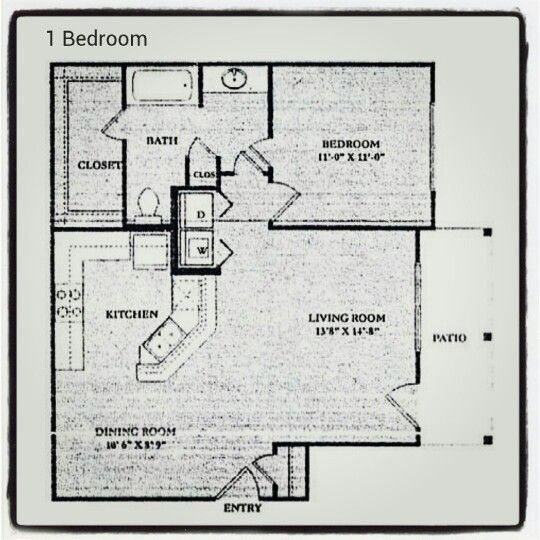 Found This Really Awesome Floor Plan For An Apartment Up In Denton Love That The Kitchen Is Open To Dinning And Living Room