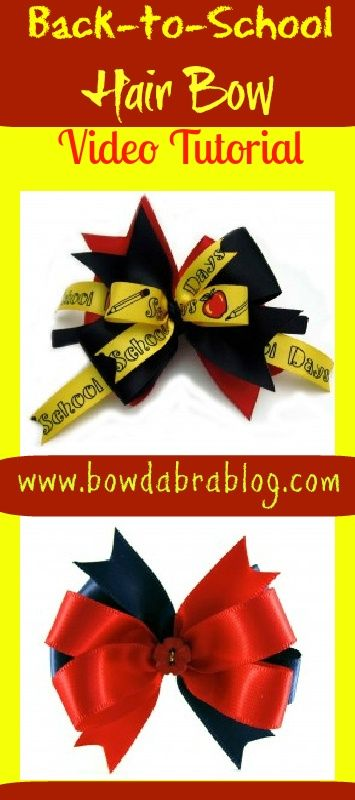 Back to School Hair Bows: Using the Mini Bowdabra Hair Bow Making Kit