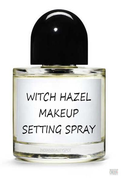 Witch Hazel Makeup Setting Spray   Why buy when you can make your own Natural Makeup? Check out our 22 DIY Cosmetics Bucket List, it's Easy and the Ingredients are super Simple.