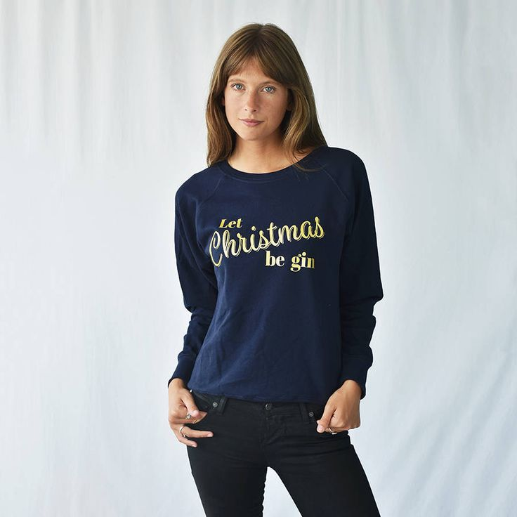 'Let Christmas Be Gin' Women's Christmas Jumper