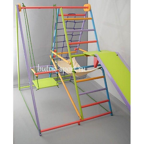 Детский спортивный комплекс Кроша цветной. Купить спортивный уголок