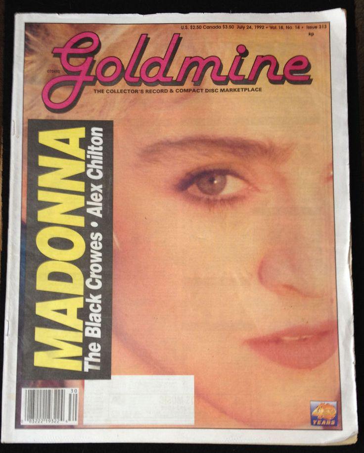 Madonna GOLDMINE Magazine July 24th 1992 VERY RARE Black Crowes Alex Chilton