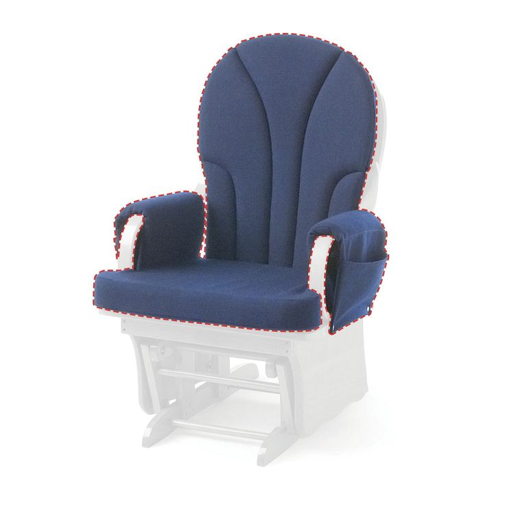 Foundations Replacement Cushion, Blue, for Use with Lullaby Glider Rocker
