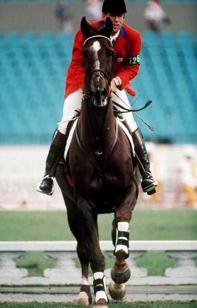 the Greats....  Canada's Ian Miller rides Big Ben in the equestrian event at the 1988 Olympic games in Seoul