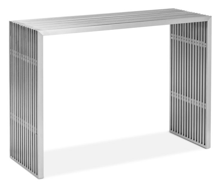 Zuo Modern Novel Console Table Novel Console Table Brushed Stainless Steel Furniture Tables Console Tables