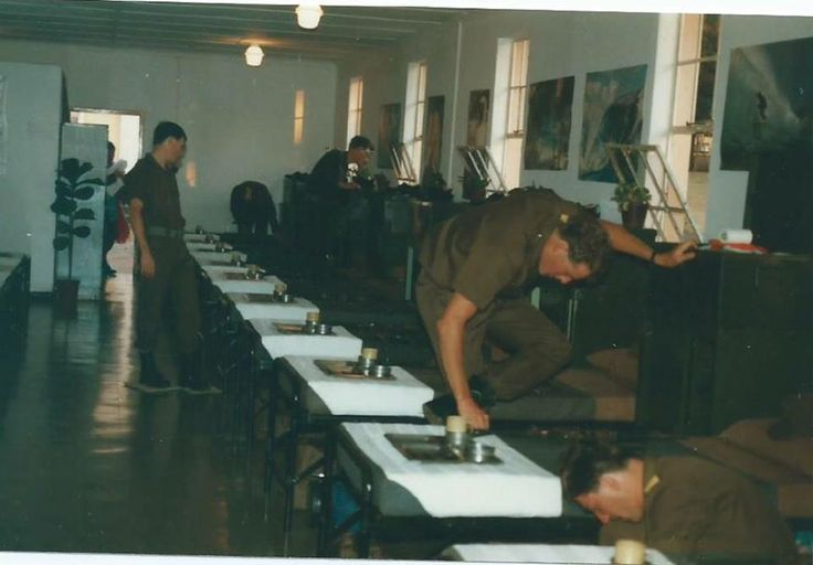 South African Border War - Preparing for Bungelow inspection Basic training