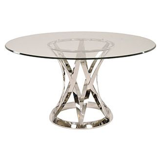 Janet Clear Round Dining Table Round Dining Round Marble Dining Table Furniture Dining Room Table