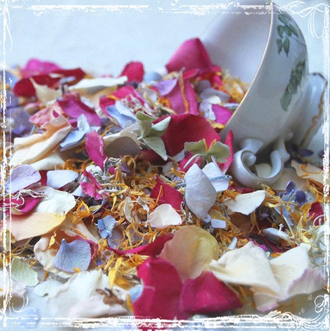 Fling  Petal Confetti - Toss Or Decoration - Freeze Dried Flowers - Summer Wedding - Rice Alternative - Weddings - Send Off - Flower Girl. $8.95, via Etsy.