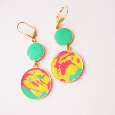 Neon Colour Carnival Earrings