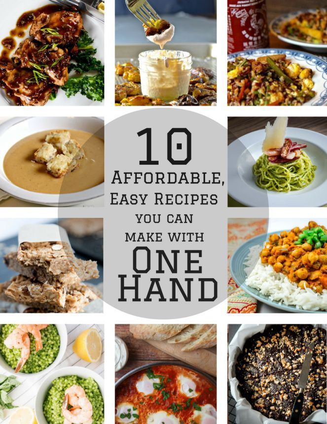 10 Affordable, Easy Recipes You Can Make With One Hand | Peppers & Pennies