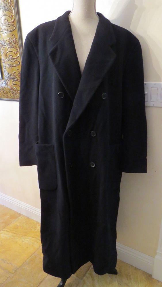 MANI by Giorgio Armani Black Wool Coat, Made in Italy, RARE
