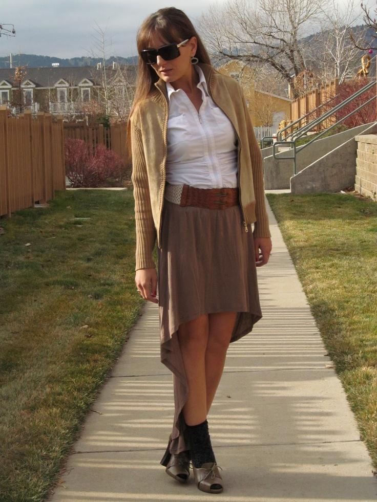 #FranniePantz: Threesome Thursdays--Mullet Skirt  Mullet Skirts #2dayslook #new style #MulletSkirtsfashion  www.2dayslook.com
