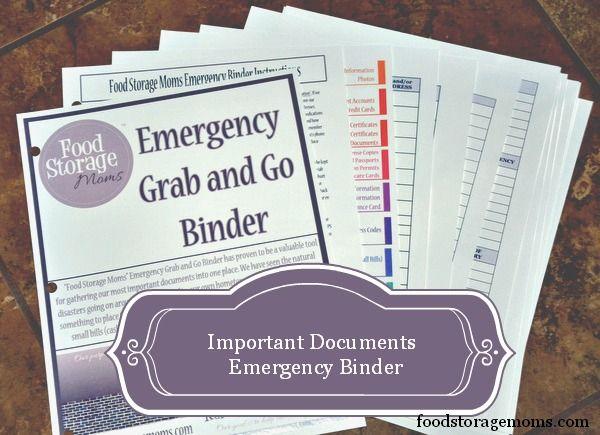 Important Documents Emergency Binder by Food Storage Moms