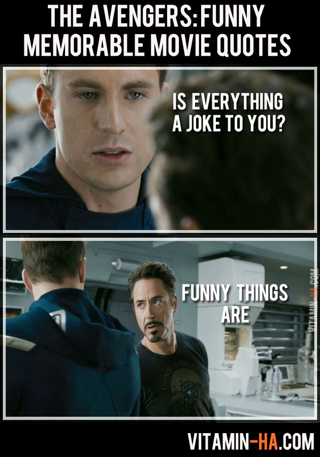 Avengers Movie Funny Quotes.... this was actually a really great movie!