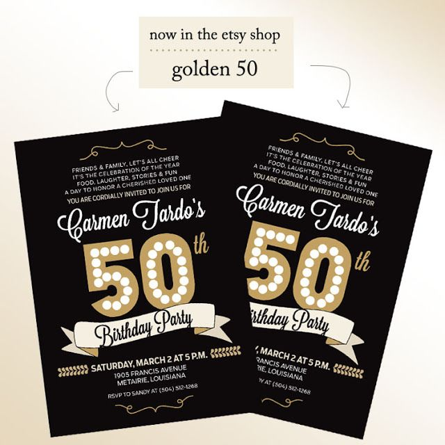 A Pinch of Lovely: 50th Birthday Invitations