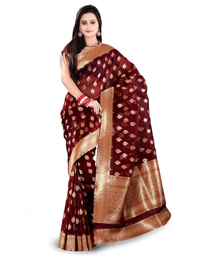 Loved it: V3 Fashion Studio Exotic Maroon Banarasi Silk Saree With Blouse Piece, http://www.snapdeal.com/product/v3-fashion-studio-exotic-maroon/831134751