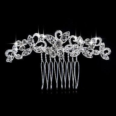 Vrouwen Parel Bergkristal Kristallen Licht Metaal Helm-Bruiloft Speciale gelegenheden Informeel Haarkammen 1 Stuk - EUR € 3.71