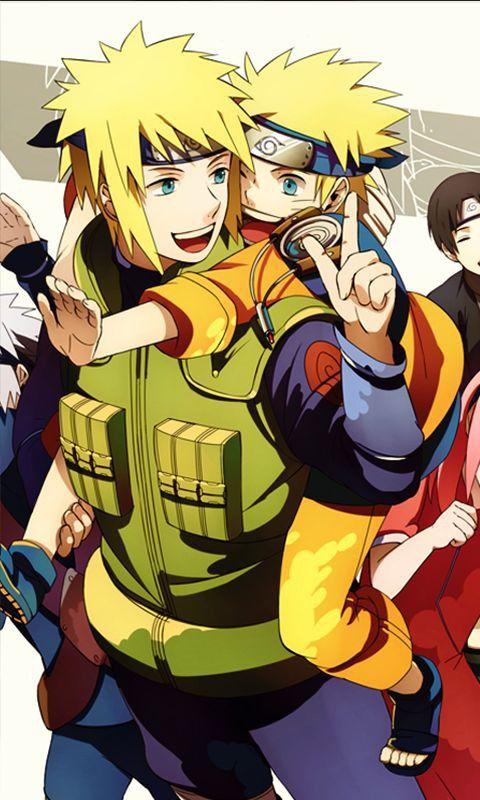 Minato y Naruto