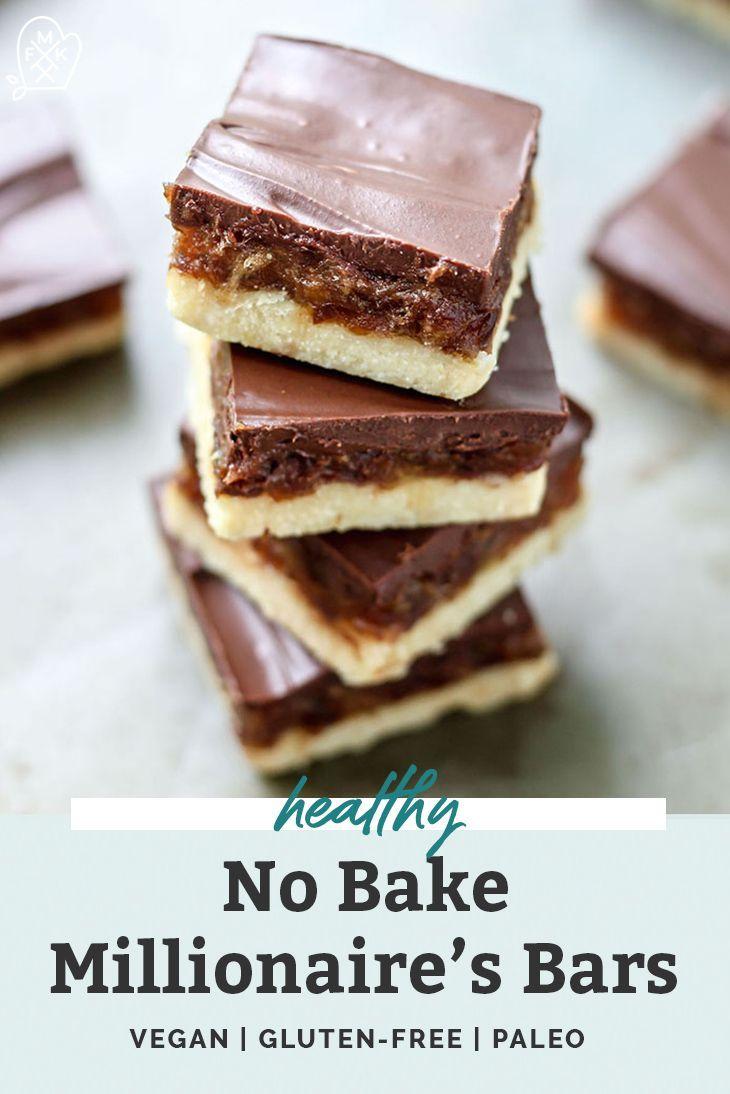Healthy No Bake Millionaire S Bars Vegan Recipe Healthy